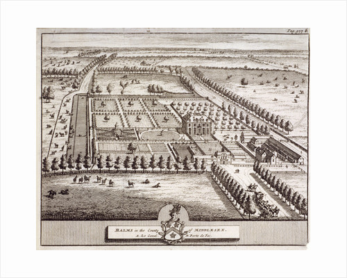 Aerial view of the estate belonging to Baumes House, Hoxton, London by Anonymous
