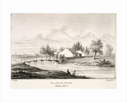The White House on the banks of the River Lea, Hackney Marsh, London by Charles Bigot