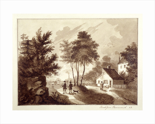 View of Brook Green, Hammersmith, London by EB