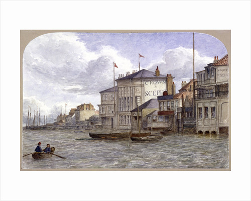 View of the Crown And Sceptre Inn, Greenwich, London by Anonymous