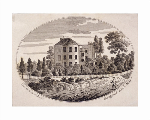 Hill House, Hampstead Heath, Hampstead, London by John Constable