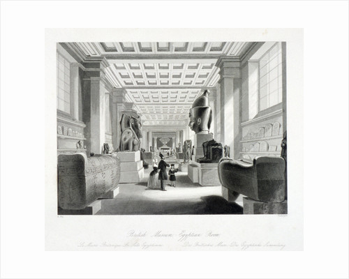 The Egyptian Room, British Museum, Holborn, London by Augustus Butler