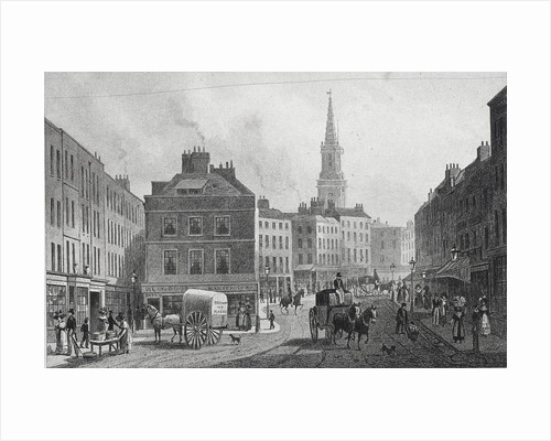 Broad Street, Bloomsbury, London by William Woolnoth