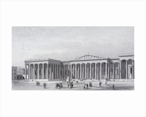 British Museum, Holborn, London by Augustus Charles Pugin