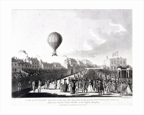 Vincenzo Lunardi's balloon ascending from Artillery Ground, City Road, Finsbury, London by Francis Jukes