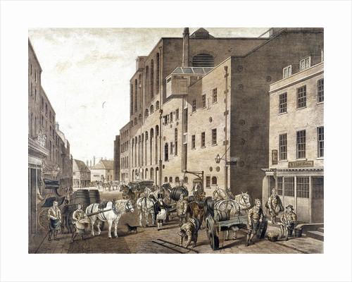 Clerkenwell Road, Finsbury, London by Jean Baptiste Claude Chatelain