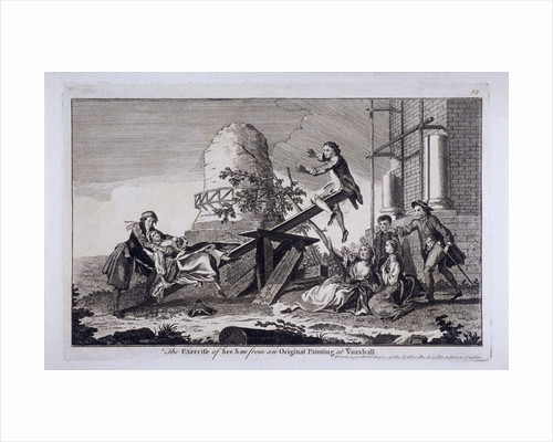 The Exercise of See Saw, Vauxhall Gardens, Lambeth, London by Anonymous