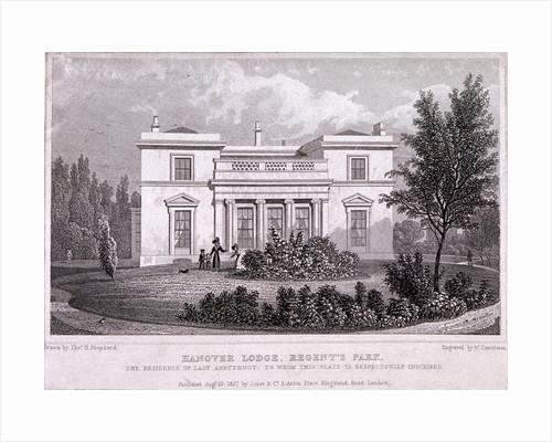 Hanover Lodge, Regent's Park, Marylebone, London by William Tombleson
