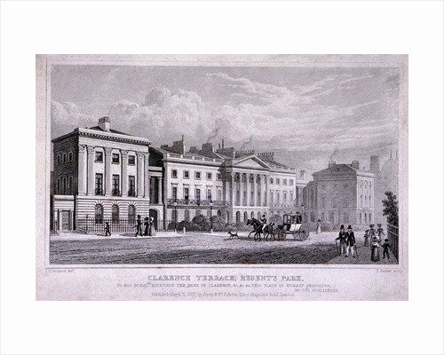 Clarence Terrace, Regent's Park, Marylebone, London by Thomas Barber