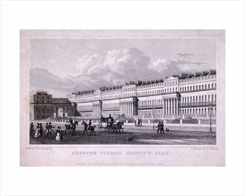 Chester Terrace, Regent's Park, Marylebone, London by Harlen Melville
