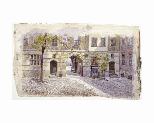 View from the entrance of Staple Inn, London by John Crowther