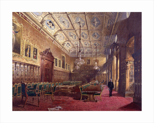 Interior of Ironmongers Hall, London by John Crowther