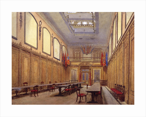 Interior of Skinners' Hall, London by John Crowther