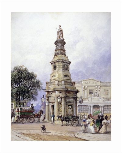 Monument to George IV, Battle Bridge (now King's Cross), London by Matthew Dubourg