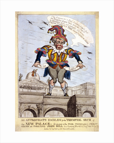 An appropriate emblem for the triumphal arch of the new (Buckingham) palace ..., London by Anonymous