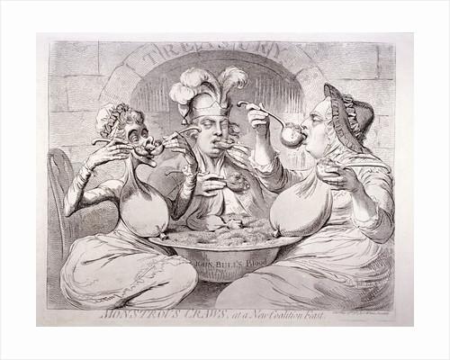 George III feeding himself on guineas, London by Anonymous