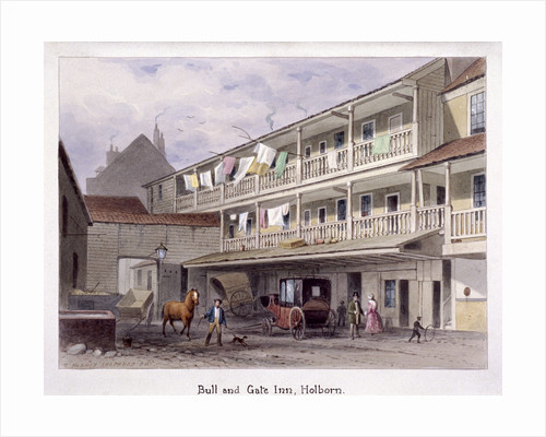 Bull and Gate Inn, Holborn, London by Thomas Hosmer Shepherd