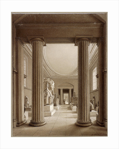 Egyptian Gallery in the British Museum, London by Robert Havell