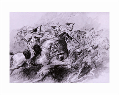 A Cavalry Charge by Sir John Gilbert