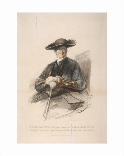 Greenwich Pensioner in the character of Commodore Trunion, Greenwich Hospital, London by Sutton Nicholls