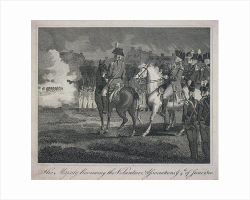 George III, on horseback, reviewing volunteers, City Road, Finsbury, Islington, London by Anonymous