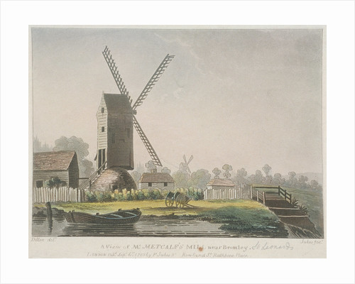 A view of Mr Metcalf's mill near Bromley, Bow, Poplar, London by Francis Jukes