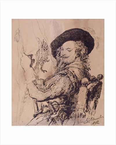 A Standard Bearer by Sir John Gilbert