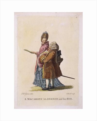 A macarony alderman and his rib by James Caldwall