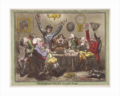 Anacreontick's in full Song by James Gillray