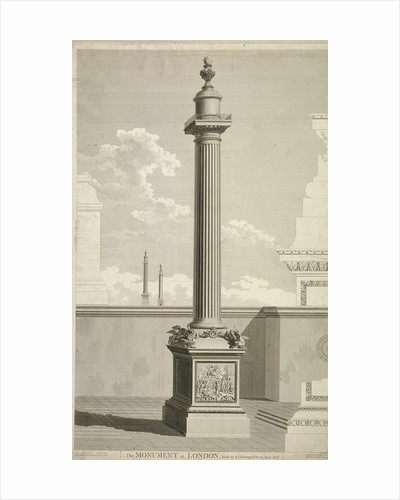 View of the Monument, City of London by Corbis