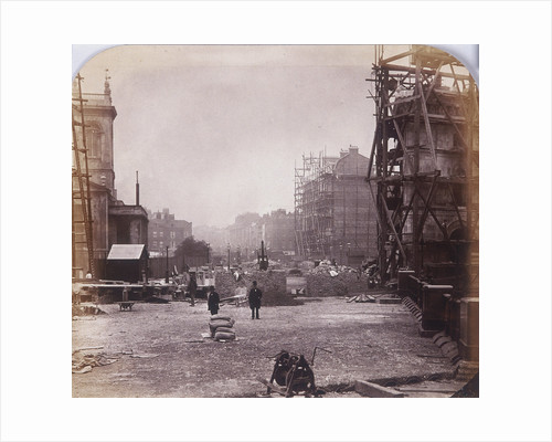Holborn Viaduct under construction, Holborn, London by