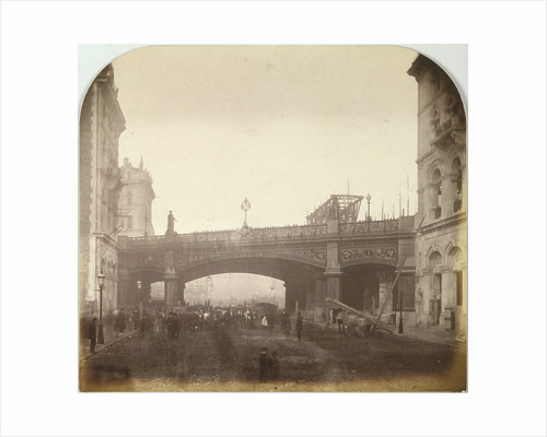 Holborn Viaduct, London as it crossed Farringdon Street by Henry Dixon