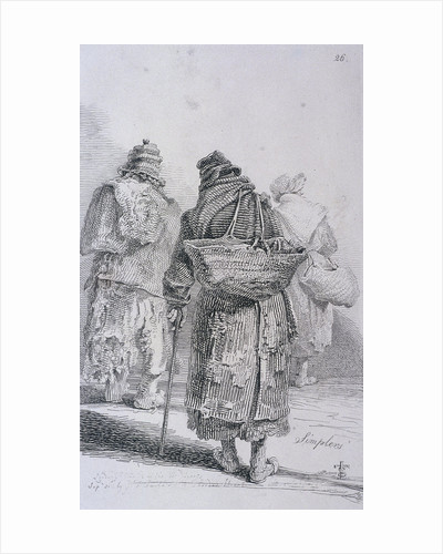 Simplers, Cries of London, (c1819?) by John Thomas Smith
