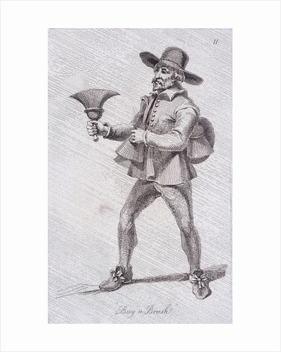 Buy a Brush, c1680, from Cries of London by John Thomas Smith