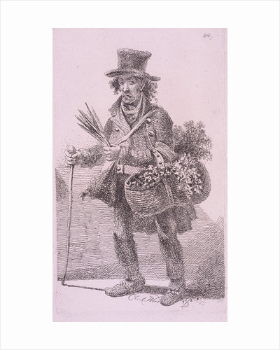 Chick-Weed, Cries of London, 1819 by John Thomas Smith