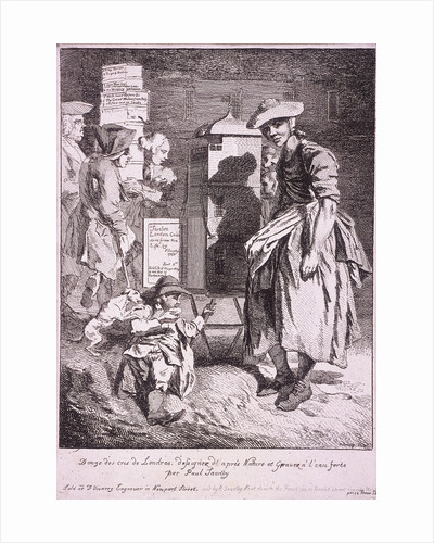 Woman with a raree show, Cries of London by Anonymous