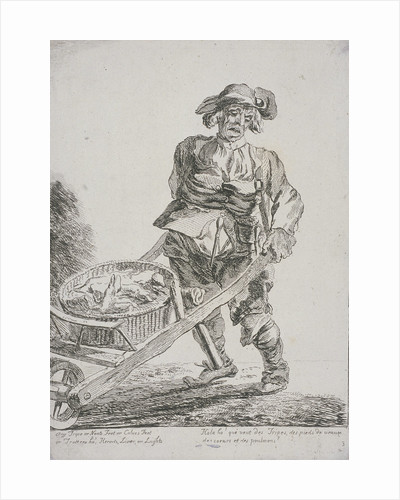 Offal seller, Cries of London by Paul Sandby