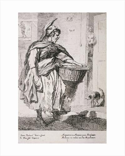 Mackerel seller, Cries of London by Paul Sandby