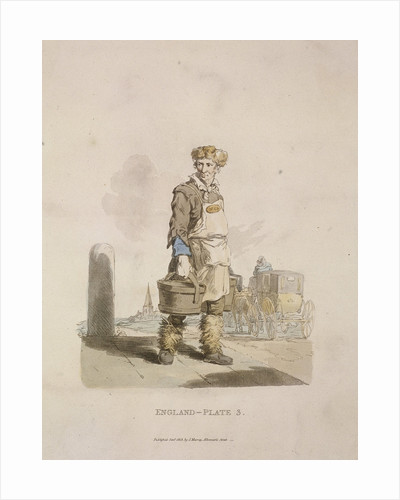 A waterman to a coach stand, Provincial Characters by James Basire