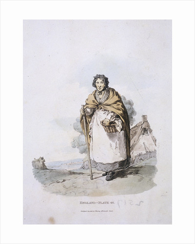 A market woman, Provincial Characters by Anonymous