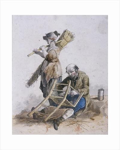 Two chair menders, Provincial Characters by Rembrandt Harmensz. van Rijn