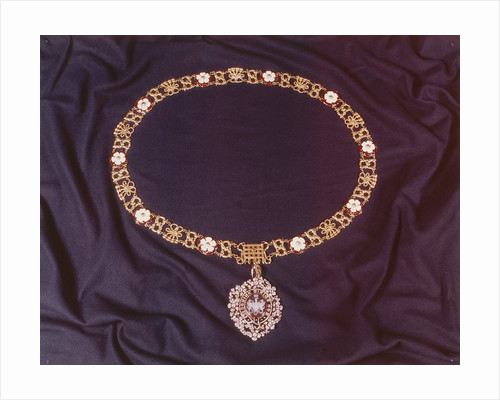 View of the jewelled collar worn by the Lord Mayor of London by C.J.L. Vermeulen