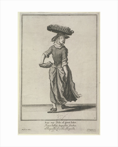 Buy my Dish of great Eeles, Cries of London, (c1688?) by Pierce Tempest