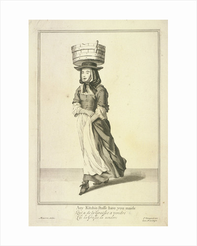 Any Kitchin Stuffe have you maids, Cries of London, (c1688?) by Pierce Tempest