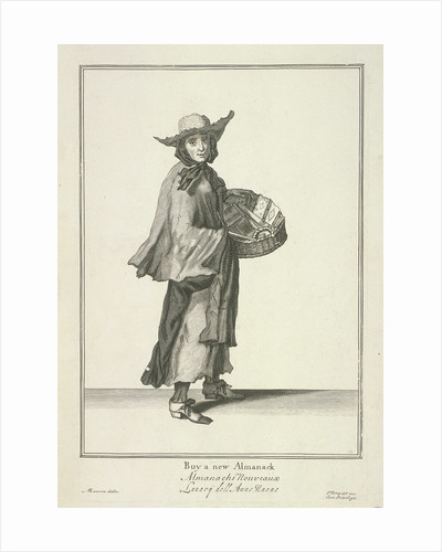 Buy a new Almanack, Cries of London, (c1688?) by Pierce Tempest