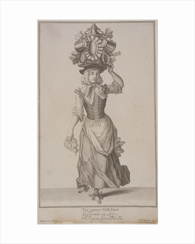 The merry Milk Maid, Cries of London, (c1688?) by Pierce Tempest