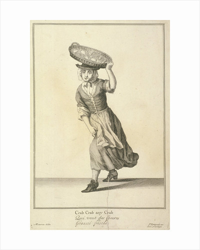 Crab Crab any Crab, Cries of London, (c1688?) by Currier and Ives