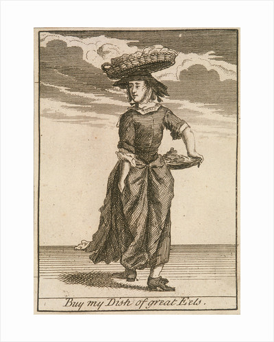 Buy my Dish of great Eels, Cries of London, (c1688?) by Anonymous