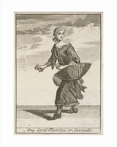 Any Card Matches or Savealls, Cries of London, (c1688?) by Anonymous