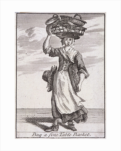 Buy a fine Table Basket, Cries of London, (c1688?) by Anonymous